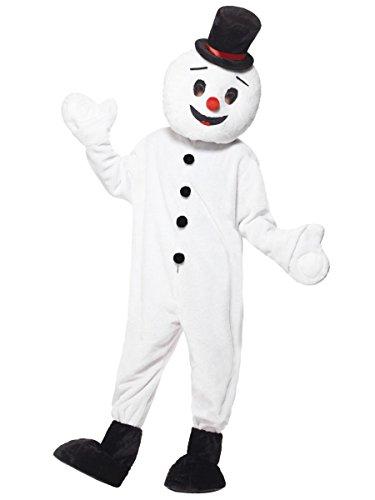 (Smiffys Herren Kostüm Schneemann Maskottchen Karneval Fasching Weihnachten)
