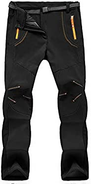 TBMPOY Men's Outdoor Quick-Dry Lightweight Waterproof Hiking Mountain Pants with