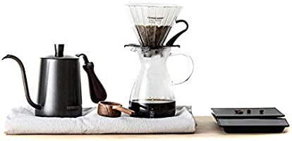 CAFEDEKONA Coffee Maker 6pcs Drip Filter Hand Coffee Pot Fine Mouth Pot Filter Cup Bean Spoon Filter Paper Electronic...