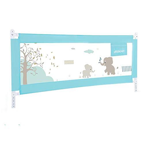 HUO barandilla Barandillas De La Cama para Bebés Portátil Y Estable Barrera De Seguridad Barrera De Cama para Bebé Barrera De Seguridad Sello De Calidad (Color : Blue, Size : 200cm)