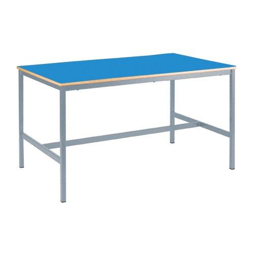 color azul Metalliform CONC-M-PS-LG-76-LG-Summer Blue Connect poliuretano termoplástico Mesa con ruedas