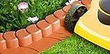 IHAP1 Bordatura da giardino palizzata di plastica 3,10 m, colore: grigio