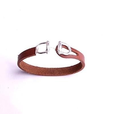 Bracelet équitation en cuir boucle mort à cheval bijou pour femme et homme accessoire collection By Mode France.