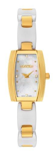 Roamer 673847 48 89 60 - Reloj analógico de cuarzo para mujer, correa de acero inoxidable color blanco