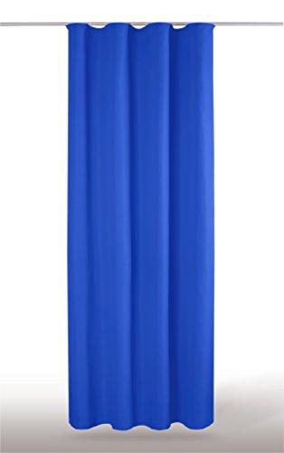 Dekoschal Gardine blickdicht Universalband Kräuselband Microsatin, Auswahl: anthrazit – dunkelgrau 140 cm 245 cm - 3