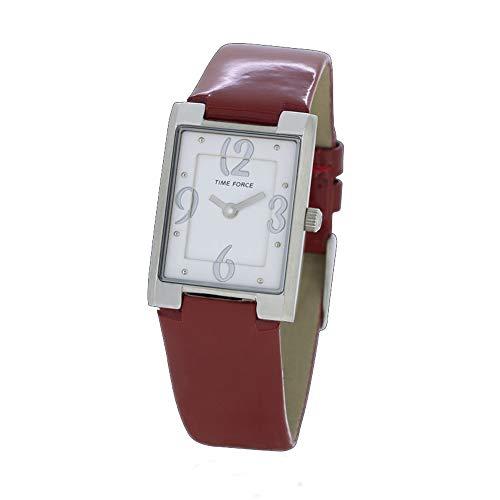 Time Force Reloj Analógico para Mujer de Cuarzo con Correa en Cuero TF4066L04
