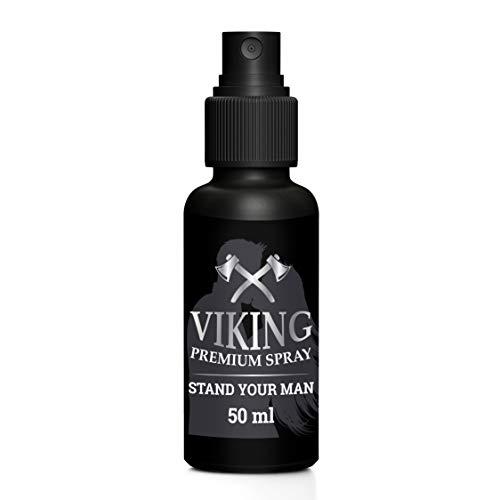 Viking Premium Delay Spray | gegen vorzeitigen Samenerguss | Orgasmus Verzögerungsspray für Männer | Spray für den Mann | Länger Sex | für langen Spaß | Penis -