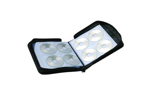 Nylon anelli per CD Wallet/borsa & DVD contenitore nero per