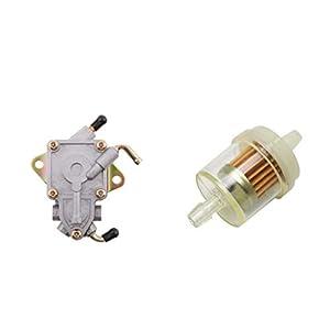 perfeclan 1 Stück elektrische Kraftstoffpumpe Kraftstoffversorgung Benzinpumpe für Yamaha Rhino 660 2004-2007 (Durchmesser 1/4