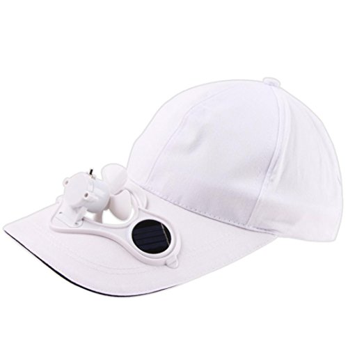 bbed8d99147 Familizo Women Men Children Camping Hiking Peaked Cap with Solar Powered  Fan Baseball Hat