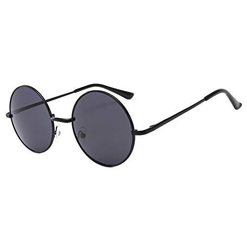 ZXYSSKT Neue Anti-Blaue Gläser Anti-uv Uv400 Flat Mirror Retro Glasses Frame,Black