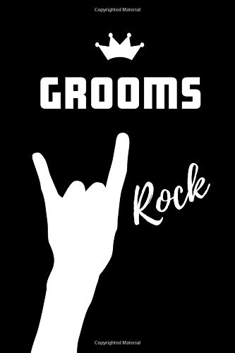 Grooms Rock: Blank Lined Pattern Proud Journal/Notebook as a Birthday, Christmas, Wedding,Anniversary, Appreciation or Special Occasion Gift. - Le Grande Holiday Sticker