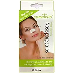 GREEN TEA Nose Pore Strips / Blackhead Removel (10 Strips) By Cameleon