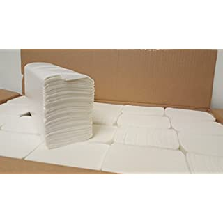2 Ply White Z Luxury Fold Hand Towels Case of 3000