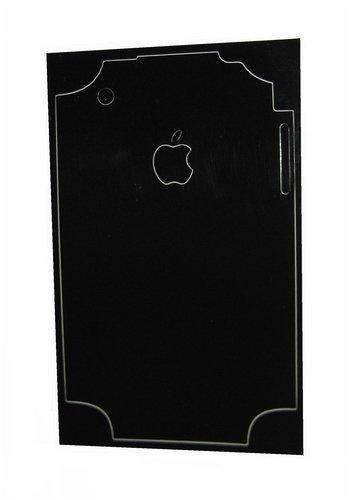 SCHUTZFOLIE - Aufkleber für Rückseite vom Apple iPhone 3G, 3-G, schwarz