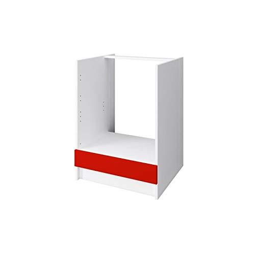 OBI Meuble bas four 60 cm - Rouge mat