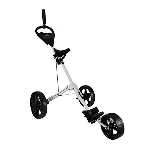 AIMN Golf Push Cart, Golftrolley mit 3 Rädern, zusammenklappbar