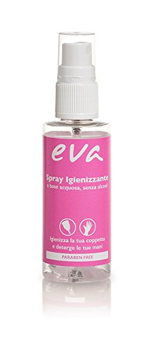 Eva - Kit S+L mit 2 Super-Soft Menstruationstassen + Desinfektionsspray - 2 Farben - MADE IN ITALY (Rose) - 6