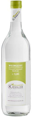 Weingeist Primasprit Ethanol 96,4% - 1000ml - Brennerei Kessler