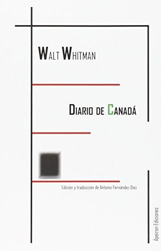 DIARIO DE CANADÁ (Eidos) por WHITMAN WALT