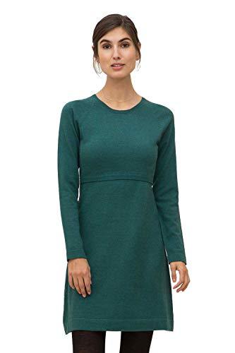 Milker Loma Stillkleid Umstandskleid aus Wolle-Viskose-Strick Jade