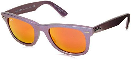 Ray Ban Unisex Sonnenbrille Wayfarer Original, Gr. Small (Herstellergröße: 50), Mehrfarbig (violett blau 611169)