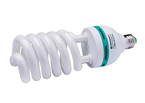 Bresser Fotostudio Spiral Tageslichtlampe (E27/55 Watt) Farbtemperatur 5300-5500 Kelvin - 50w Spiral