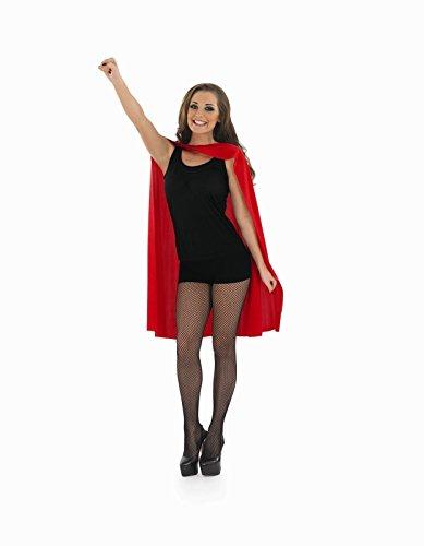 Unisex Superhero Cape Zubehör für Super Hero Fancy Dress Herren oder Damen Rot