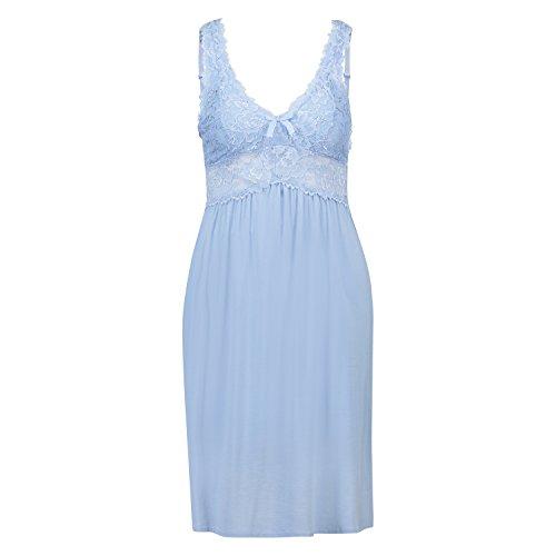 Hunkemöller Damen Slipdress Modal Lace Blau M133703