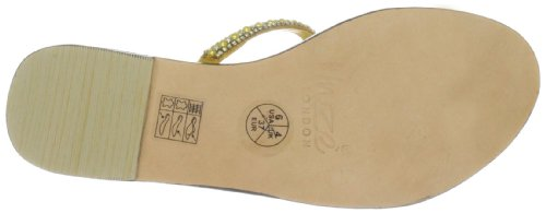 Unze Evening Slippers, Damen Slipper Gelb (L18341W)