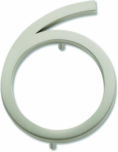 -brn Modern Avalon 11,4Nr. 6Hausnummer, gebürstetes Nickel ()