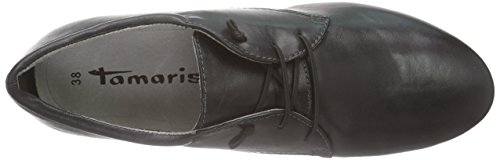 Tamaris Damen 23209 Derby Schwarz (BLACK PLAIN 080)