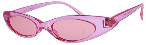 Super schmale Cat Eye Sonnenbrille im Stil der 40er 50er Jahre Rockabilly Blogger Fashion CS27 (Crystal Rose)