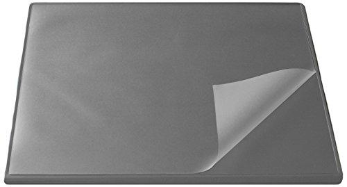 Schreibunterlage Grau (Läufer 44623 Durella Flexoplan Schreibtischunterlage mit Kantenschutz und transparenter Auflage, 52 x 65 cm, rutschfest, grau)