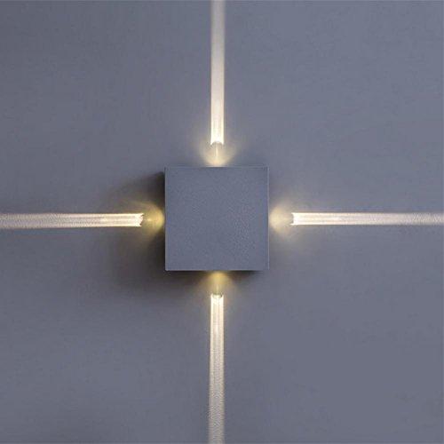 OOFAY LIGHT® Wandlampe kreative Wandlampe LED Lampe Nacht Schlafzimmer Wohnzimmer Wandlampe moderne minimalistische Korridor Hotel Wandlampe Kreuz Sternenlicht Wandlampe [Energieklasse A ++] , A
