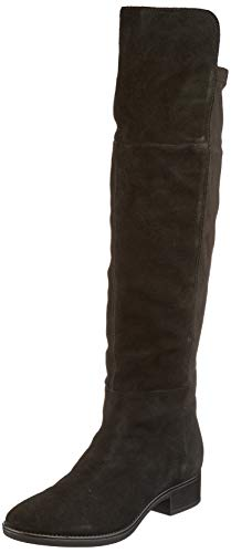Geox Womens D Felicity I Over-The-Knee Boot, Black, 40 EU
