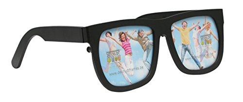 Deknudt Frames S67AS2-P2-.0X.0 Bilderrahmen Brille, Kunstharz, für 2 Bilder, 23 x 9,3 x 1,5 cm, Schwarz