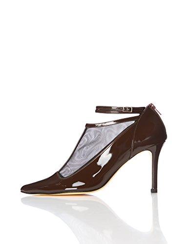 Find. Zapatos Estilo Mary Jane Charol Mujer, Marrón