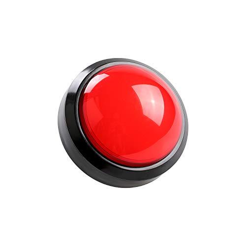 Hikig 5V 100mm Arcade Taste große Kuppel konvexen Typ LED beleuchtete Drucktasten für Arcade Raspberry Pi Video Musik Spiele, rot