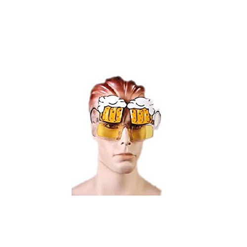 Sonnenbrille Kostüm in Form von Maßkrug–Zubehör Karneval Abend -