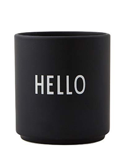 Design Letters - Favourite Becher Hello - Tasse - Bone China Porzellan - Ø 8cm x H: 8,5cm - Spülmaschinenfest Design-porzellan