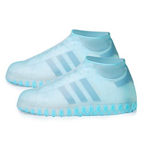 Vitcoco copriscarpe in silicone impermeabile scarpe copertura riutilizzabile stivali di copriscarpe antiscivolo pioggia stivali scarpe pioggia scarpe
