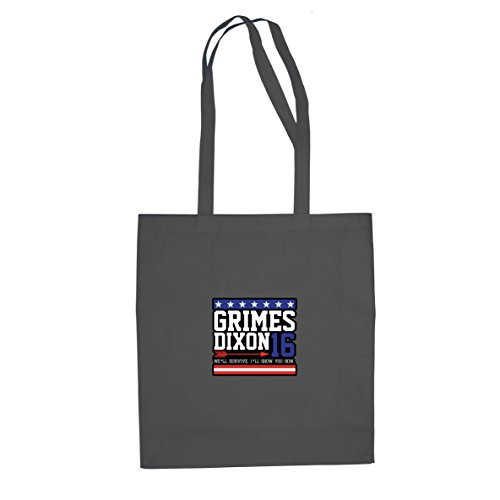 Planet Nerd Grimes and Dixon for President - Stofftasche/Beutel, Farbe: grau