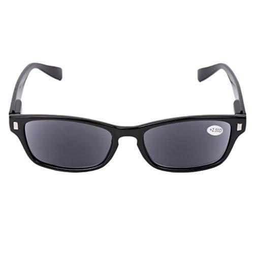 Fogun Lesebrillen, die überall haften, Sie überall begleiten, Sonnenbrillen Lesebrill Lightweight +1,0 +1,5 +2,0 +2,5, 3,0,+3,5 (Schwarz, 2.5)