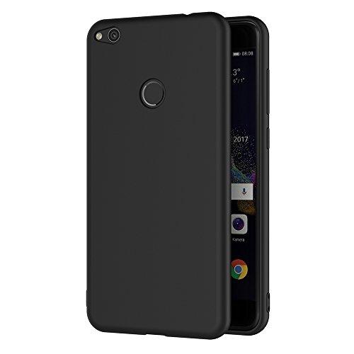 Cover Huawei P8 Lite 2017, AICEK Nero Custodia P8 Lite 2017 Silicone Black Cover per Huawei P8 Lite 2017 Soft TPU Case 5.2 Pollici