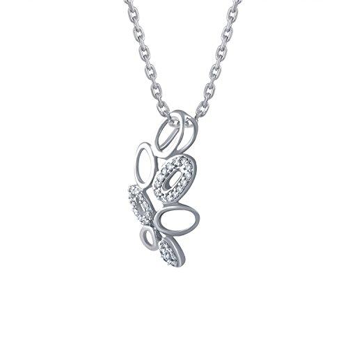 Giantti 14carats Diamant Pendentif Femme Collier (0,13CT, VS/Si-clarity, Gh-colour)