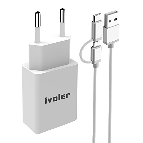 IVoler Mini Cargador USB Portátil Pared 12W / 2.4A