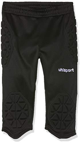 uhlsport Anatomic Goalkeeper - Pantaloni a 3/4 da Bambino, Bambini, 100562501, Nero, 140