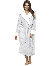 bc79132413 CityComfort Luxury Ladies Dressing Gown Soft Plush Bath Robe for Women  Housecoat Loungewear Bathrobe