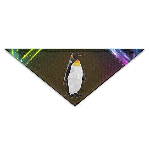 Sdltkhy Geometric Diamond Penguin and Pet Puppy Dog Triangle Head Scarf Bandana Bibs Collars Neckerchief